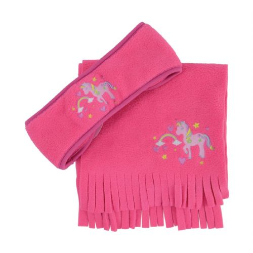 Little Unicorn Head Band & Scarf Set in Pink